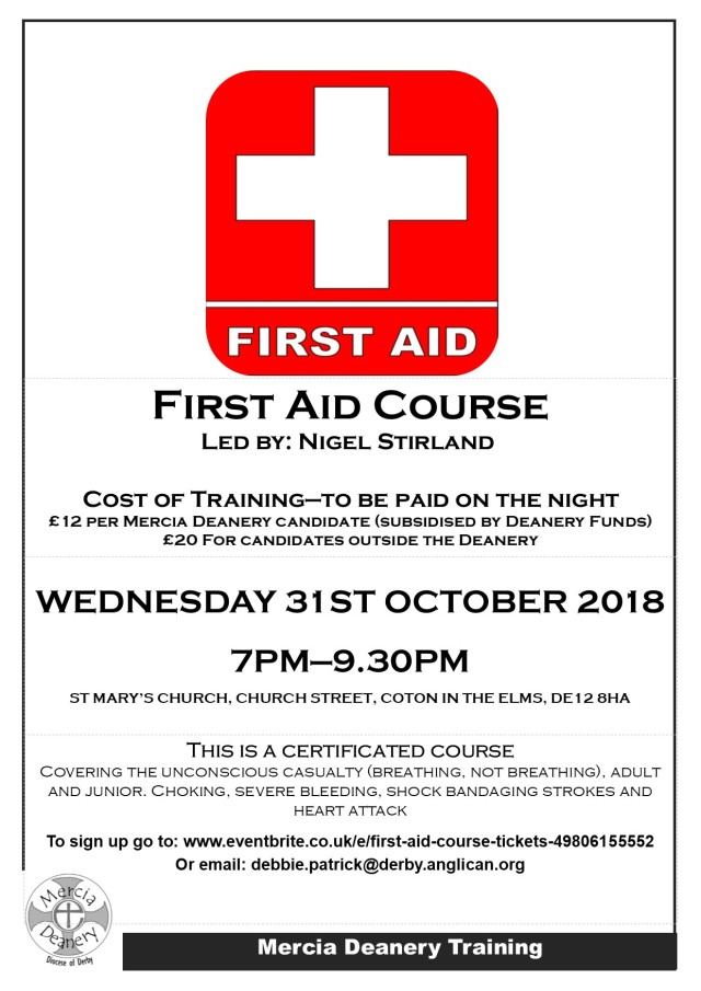 first aid training flyer '18
